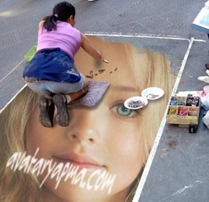 yol-uzerine-resim-yapma